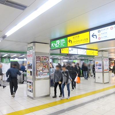 JR池袋駅北改札です。右(東口)に進みます。