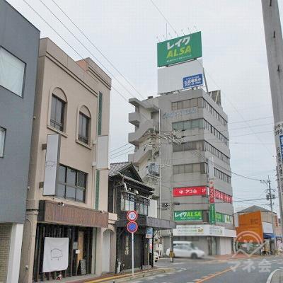 目的地建物全景です。