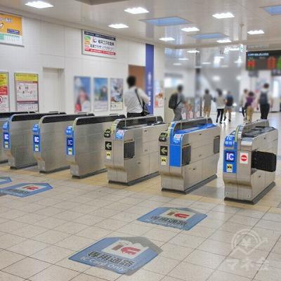 JR京都線、高槻駅中央改札を出ます。