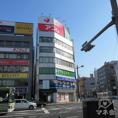 目的地建物全景です。(横川駅前交差点から撮影)