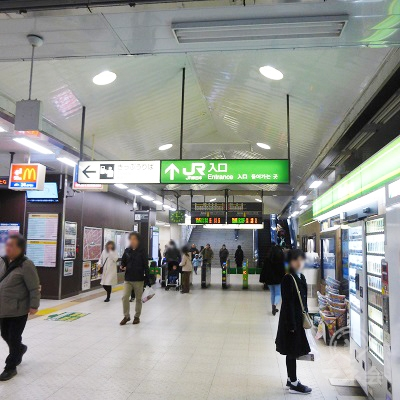 JR武蔵新城駅の改札(1か所)です。