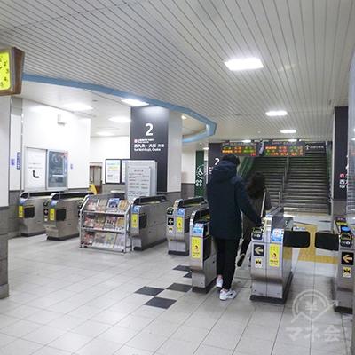 JR 大阪環状線・大正駅の外回り側改札口(1ヶ所のみ)です。