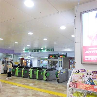 総武線亀戸駅の北口改札を出ます