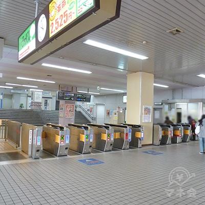 河内小阪駅の改札口。同駅の改札口はここ1ケ所だけです。