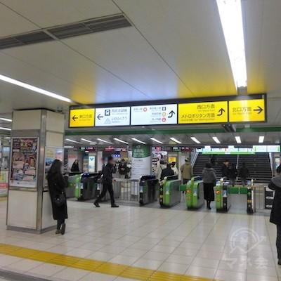 JR池袋駅の北改札です。右手に進みます。