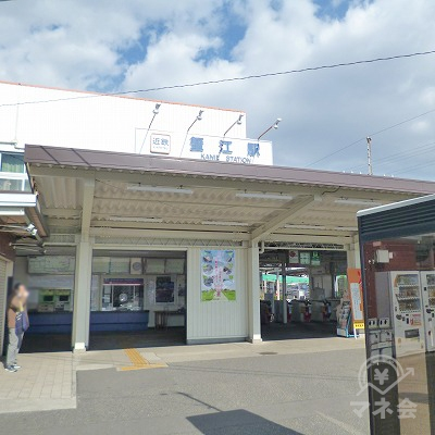 近鉄名古屋線の近鉄蟹江駅にて下車します。