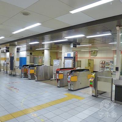 大阪メトロ千日前線・北巽駅の改札口です(1ヶ所のみ)