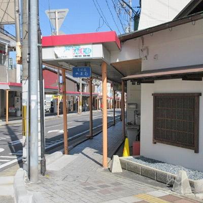 大津駅前商店街です。手前は「そば処やま喜」です。