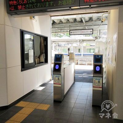 JR紀勢本線紀伊田辺駅改札(1つのみ)を出ます。