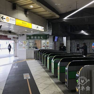 JR新橋駅銀座改札から出ます。