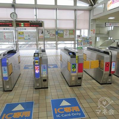 近鉄奈良線、瓢箪山駅改札を出ます。