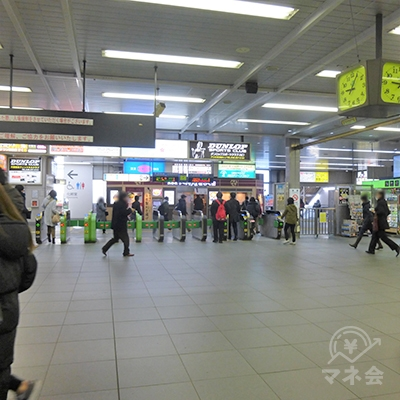 JR川口駅改札です。出て右に進みます。